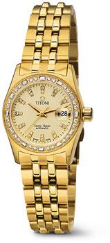 Швейцарские наручные  женские часы Titoni 728-G-DB-306. Коллекция Cosmo Queen