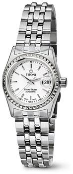 Швейцарские наручные  женские часы Titoni 728-S-310. Коллекция Cosmo Queen