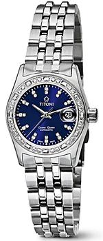 Швейцарские наручные  женские часы Titoni 728-S-DB-308. Коллекция Cosmo Queen