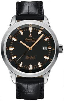 Швейцарские наручные  мужские часы Atlantic 73360.41.61R. Коллекция Seacloud