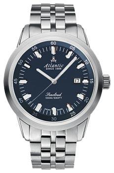 Швейцарские наручные  мужские часы Atlantic 73365.41.51. Коллекция Seacloud