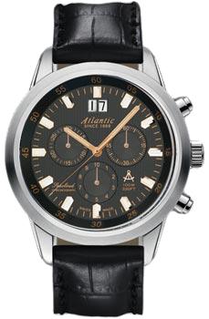 Швейцарские наручные  мужские часы Atlantic 73460.41.61R. Коллекция Seacloud