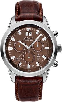 Швейцарские наручные  мужские часы Atlantic 73460.41.81. Коллекция Seacloud