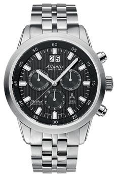 Швейцарские наручные  мужские часы Atlantic 73465.41.61. Коллекция Seacloud