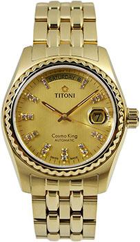 Швейцарские наручные  мужские часы Titoni 787-G-306. Коллекция Сosmo King