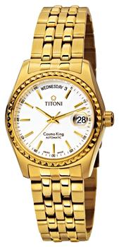 Швейцарские наручные  мужские часы Titoni 787-G-310. Коллекция Cosmo King