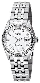Швейцарские наручные  мужские часы Titoni 787-S-307. Коллекция Cosmo King