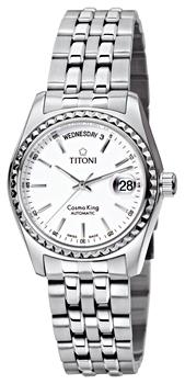 Швейцарские наручные  мужские часы Titoni 787-S-310. Коллекция Cosmo King