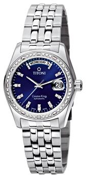Швейцарские наручные  мужские часы Titoni 787-S-DB-308. Коллекция Сosmo King
