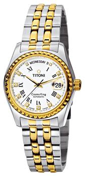 Швейцарские наручные  мужские часы Titoni 787-SY-019. Коллекция Сosmo King