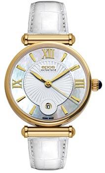 Швейцарские наручные  женские часы Epos 8000.700.22.68.10. Коллекция Quartz