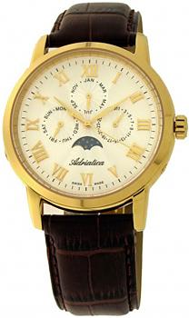 Швейцарские наручные  мужские часы Adriatica 8134.1233QF. Коллекция Multifunction