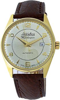 Швейцарские наручные  мужские часы Adriatica 8142.1251A. Коллекция Automatic