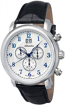 Швейцарские наручные  мужские часы Adriatica 8177.52B3CH. Коллекция Chronograph