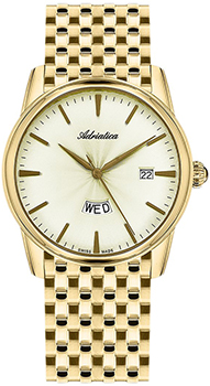 Швейцарские наручные  мужские часы Adriatica 8194.1111Q. Коллекция Gents