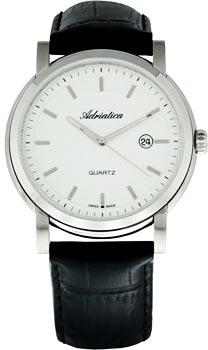 Швейцарские наручные  мужские часы Adriatica 8198.5213Q. Коллекция Gents