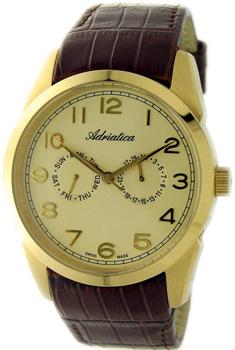 Швейцарские наручные  мужские часы Adriatica 8199.1221QF. Коллекция Gents