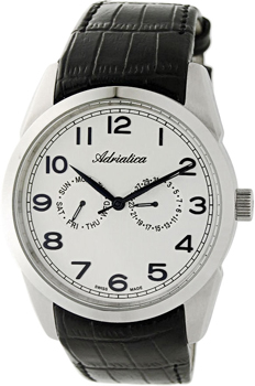 Швейцарские наручные  мужские часы Adriatica 8199.52B3QF. Коллекция Gents