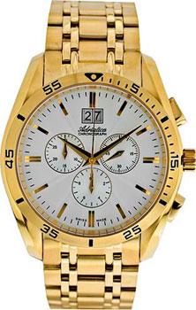 Швейцарские наручные  мужские часы Adriatica 8202.1113CH. Коллекция Chronograph