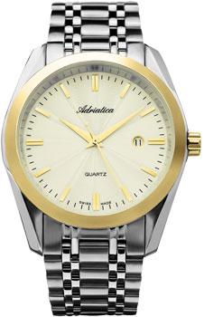 Швейцарские наручные  мужские часы Adriatica 8202.2111Q. Коллекция Gents