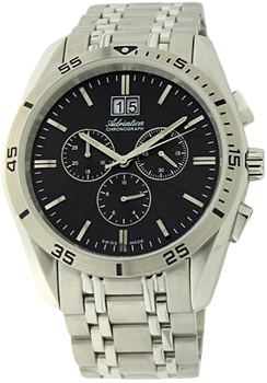 Швейцарские наручные  мужские часы Adriatica 8202.5114CH. Коллекция Chronograph