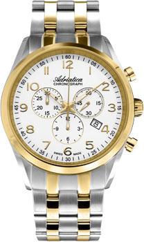 Швейцарские наручные  мужские часы Adriatica 8204.2123CH. Коллекция Chronograph