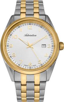 Швейцарские наручные  мужские часы Adriatica 8204.2123Q. Коллекция Gents