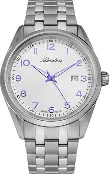 Швейцарские наручные  мужские часы Adriatica 8204.51B3Q. Коллекция Gents