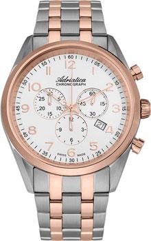 Швейцарские наручные  мужские часы Adriatica 8204.R123CH. Коллекция Chronograph