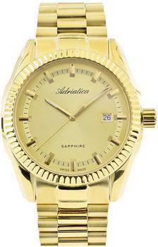 Швейцарские наручные  мужские часы Adriatica 8210.1111Q. Коллекция Gents