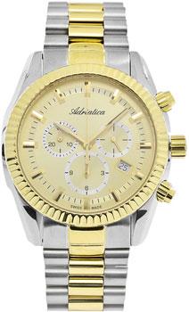 Швейцарские наручные  мужские часы Adriatica 8210.2111CH. Коллекция Chronograph