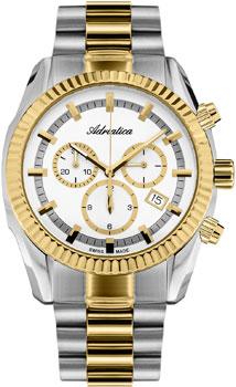 Швейцарские наручные  мужские часы Adriatica 8210.2113CH. Коллекция Chronograph