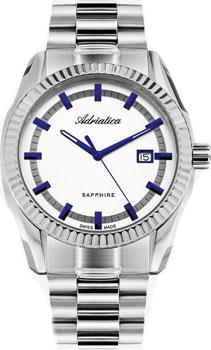 Швейцарские наручные  мужские часы Adriatica 8210.51B3Q. Коллекция Gents