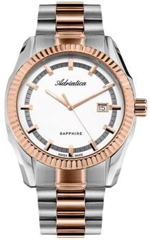 Швейцарские наручные  мужские часы Adriatica 8210.R113Q. Коллекция Gents
