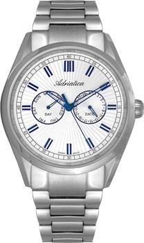 Швейцарские наручные  мужские часы Adriatica 8211.51B3QF. Коллекция Multifunction