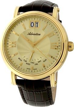 Швейцарские наручные  мужские часы Adriatica 8237.1261Q. Коллекция Gents