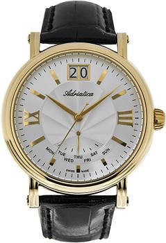 Швейцарские наручные  мужские часы Adriatica 8237.1263Q. Коллекция Gents