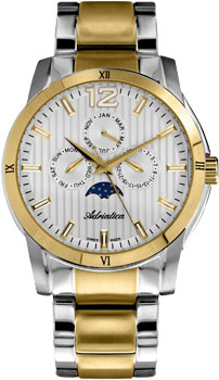 Швейцарские наручные  мужские часы Adriatica 8240.2153QF. Коллекция Multifunction