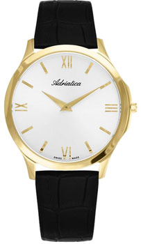 Швейцарские наручные  мужские часы Adriatica 8241.1263Q. Коллекция Gents