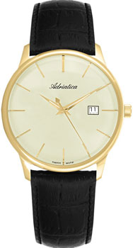 Швейцарские наручные  мужские часы Adriatica 8242.1211Q. Коллекция Gents
