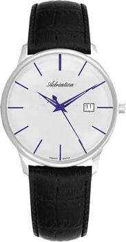 Швейцарские наручные  мужские часы Adriatica 8242.52B3Q. Коллекция Gents