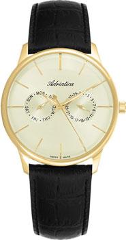 Швейцарские наручные  мужские часы Adriatica 8243.1211QF. Коллекция Gents