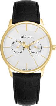 Швейцарские наручные  мужские часы Adriatica 8243.1213QF. Коллекция Gents