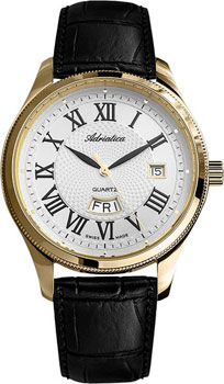 Швейцарские наручные  мужские часы Adriatica 8244.1233Q. Коллекция Gents