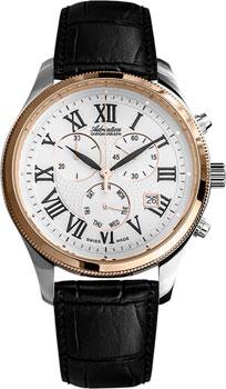 Швейцарские наручные  мужские часы Adriatica 8244.R233CH. Коллекция Chronograph