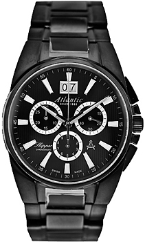 Швейцарские наручные  мужские часы Atlantic 83465.46.61. Коллекция Skipper