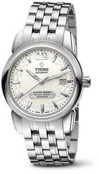 Швейцарские наручные  мужские часы Titoni 83588-S-297. Коллекция Master Series