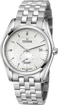 Швейцарские наручные  мужские часы Titoni 83709-S-500. Коллекция Airmaster