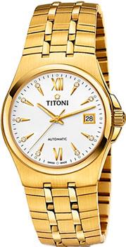 Швейцарские наручные  мужские часы Titoni 83730-G-271. Коллекция Impetus