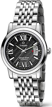 Швейцарские наручные  мужские часы Titoni 83738-S-343. Коллекция Space Star